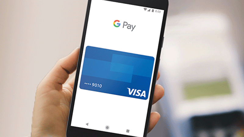 Google Pay on mobile phone